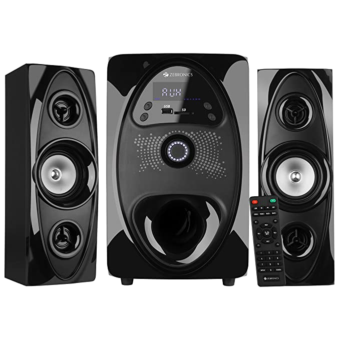 Zebronics Zeb  Koto BT RUCF 2.1 Multimedia Speaker with USB Input, FM Radio and AUX Input  Black  Home Theater Systems