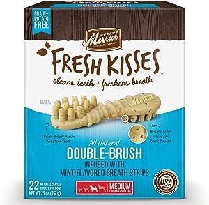 Merrick Fresh Kisses Medium Oral Care Dental Dog Treats; for Dogs 25-50 lbs