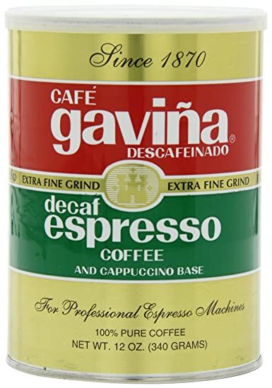 Gavina Decaf Espresso Ground Coffee, 12 Ounce: Amazon.com ...