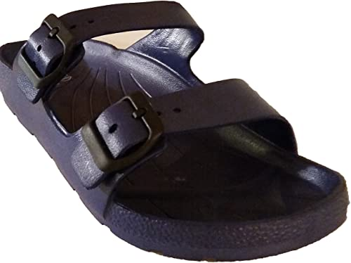 0b0b629d2265 Image Unavailable. Image not available for. Color  Easy USA Mens Double  Buckle Sandals ...
