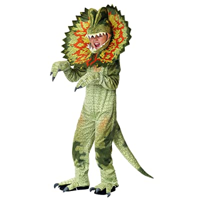 Child's Dilophosaurus Dinosaur Costume: Clothing