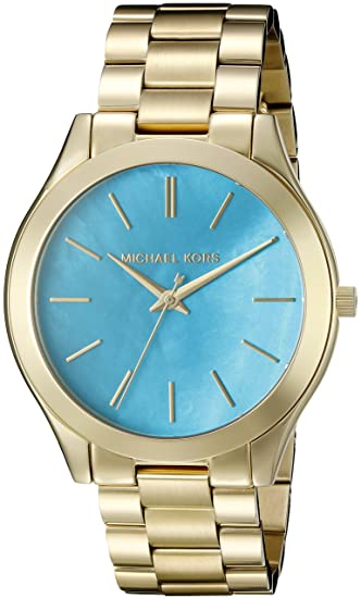 01191bd7f80a Buy Michael Kors Analog Blue Dial Women s Watch - MK3492 Online at Low  Prices in India - Amazon.in