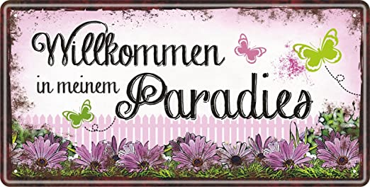Cartel metálico para el jardín, para hombres y mujeres, de ...