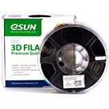 eSUN 1.75mm Black ABS 3D Printer filament 1kg Spool (2.2lbs), Black