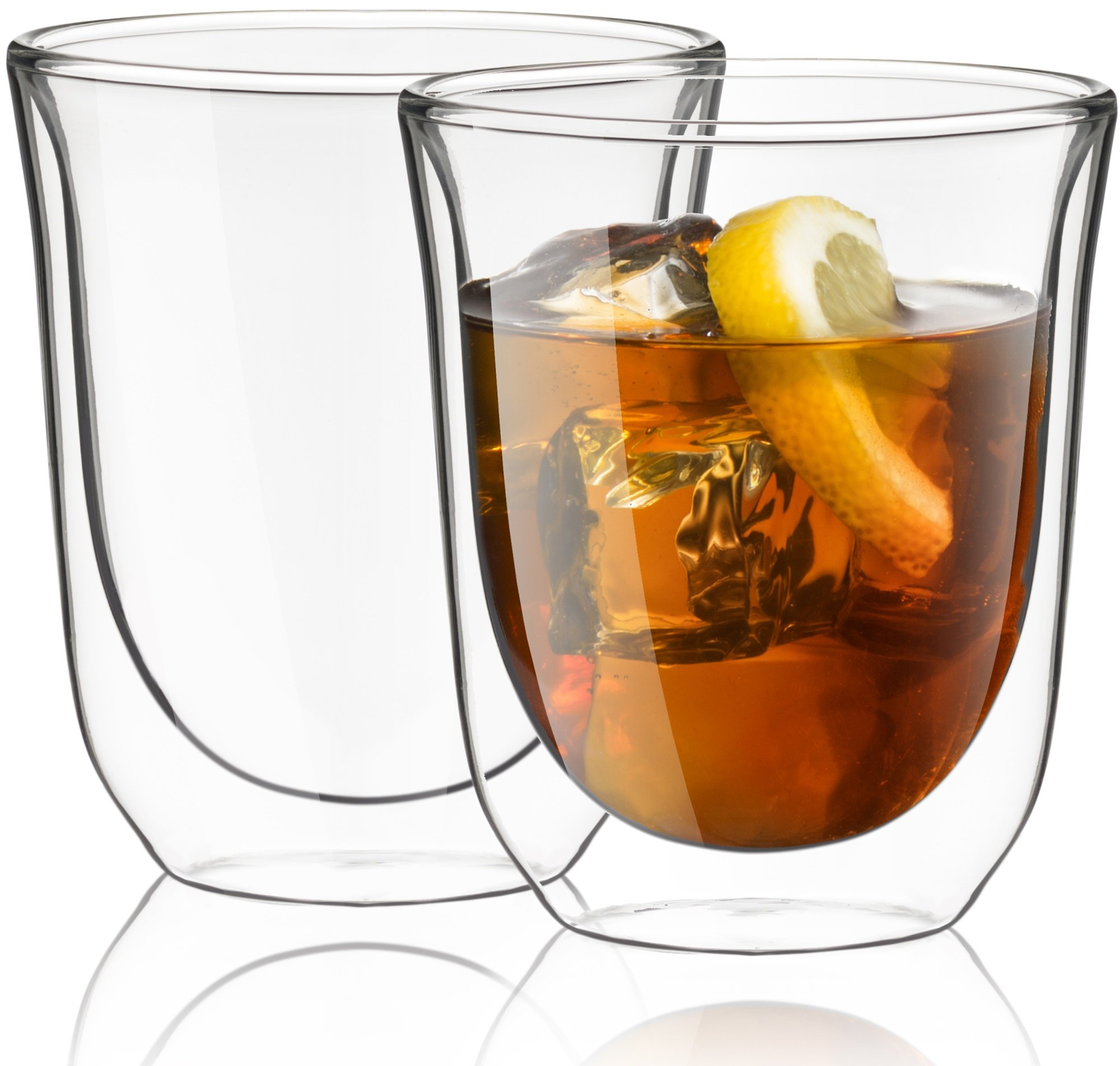 JoyJolt Levitea Double Walled Glasses Thermo Tumber 8.4-Ounce, Set of 2 Barware, Drinkware, Glassware