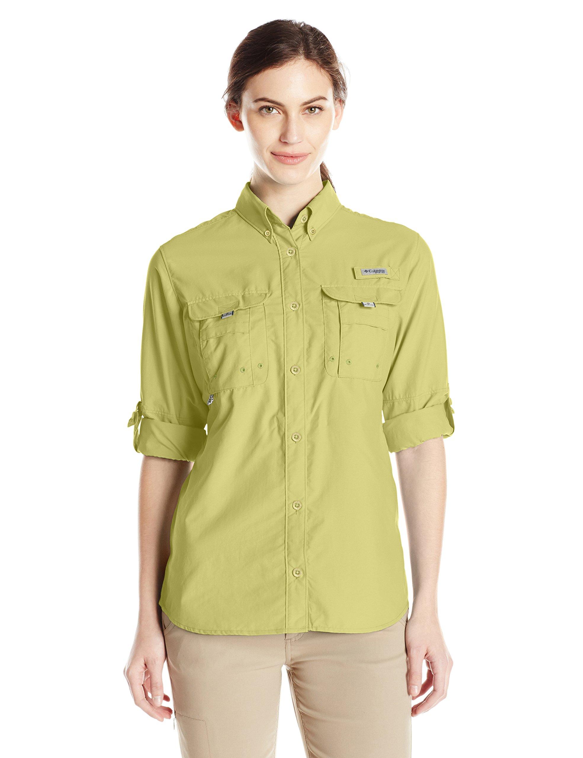 Columbia Women's Bahama Long Sleeve Shirt, Pear, Medium by Columbia (Image #1)