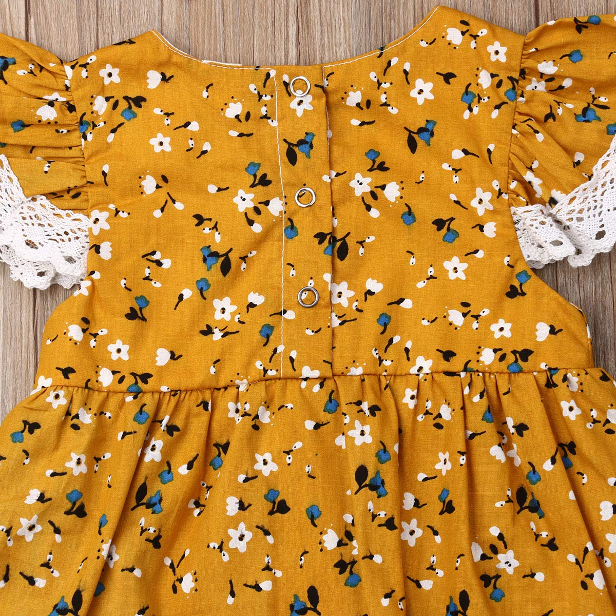 VISGOGO Kids Baby Girls Sister Matching Clothes Floral Romper Dress Headband Outfits Set