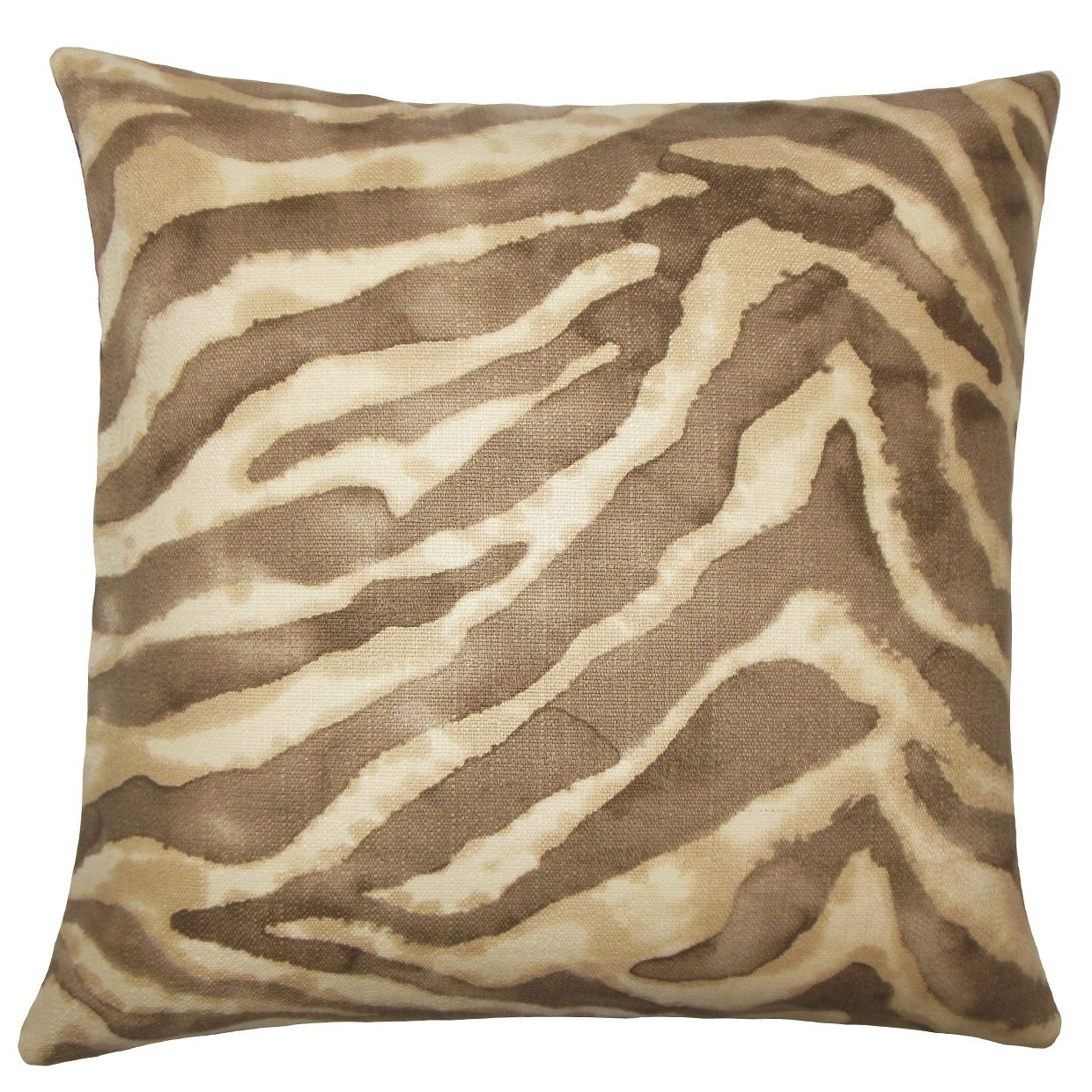 The Pillow Collection Zelig Animal Print Bedding Sham Pink Euro//26 x 26