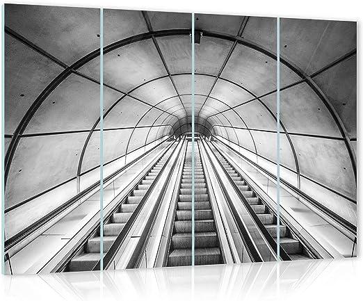 Glasbild Consalnet ForWall AMF12643_GTS7 - Cuadro de Cristal para Pared, diseño de Escalera con escaleras, Vidrio, Gris, GS7 (120cm. x 80 (4x30x80)): Amazon.es: Juguetes y juegos
