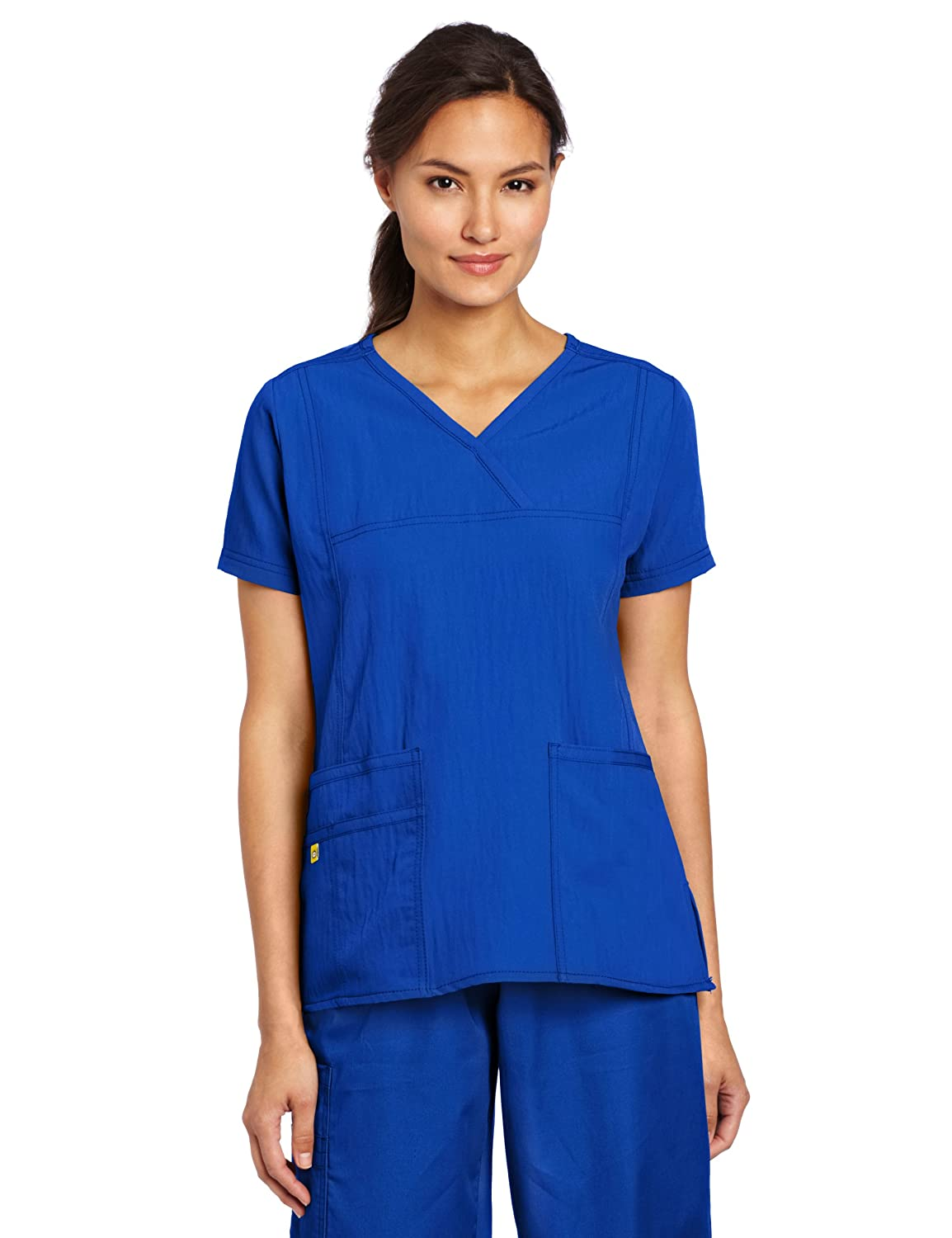 WonderWink Womens Scrubs Stretch Y Neck Image 1