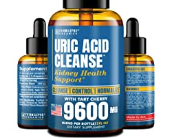 Uric Acid Cleanse with Tart Cherry 9600mg - Made in USA - Clinically Proven Natural Gоut Relief - Joint Comfort & Detoxificat