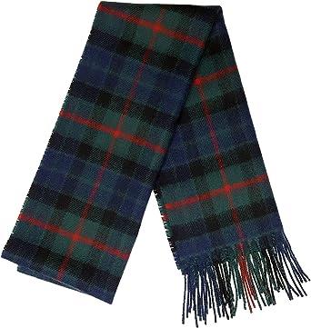 Scottish 100 /% Authentic Wool Tartan Henderson Modern Clan Scarf New !