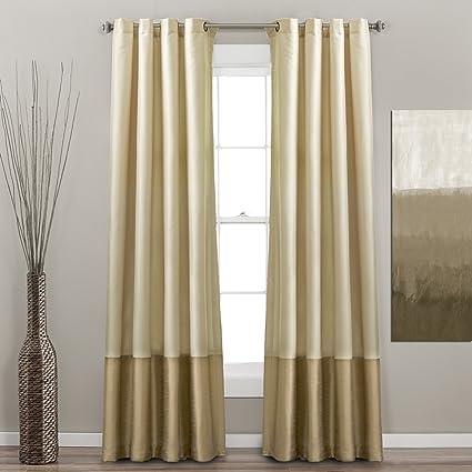 Lush Decor Prima Window Curtain Panel Pair 95 Inch X 54 Ivory