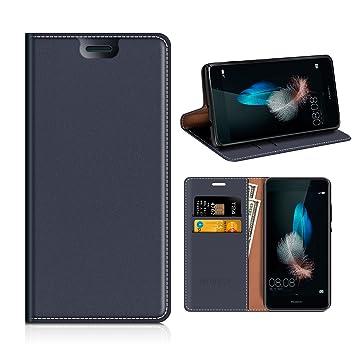 MOBESV Funda Cartera Huawei P8 Lite, Funda Cuero Movil ...