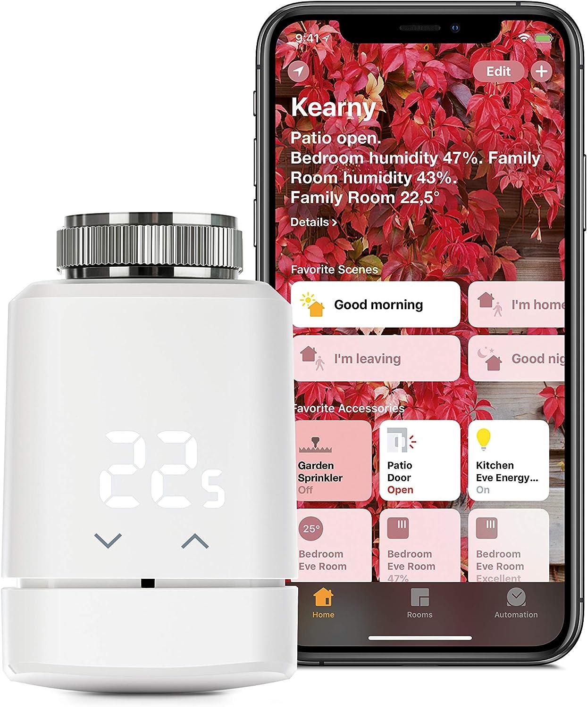Eve Thermo - Vanne de radiateur intelligente avec afficheur LED, contrôle automatique...