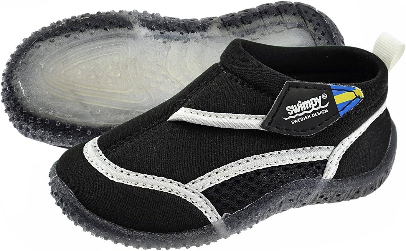 Swimpy® Zapatillas de playa unisex para niños, de neopreno y malla, suela de TPR y protección UV 100%.
