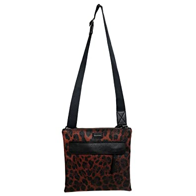 677b86fca7 Image Unavailable. Image not available for. Color  Dolce   Gabbana Leopard  Print Leather Adjustable Strap Men s Crossbody Bag
