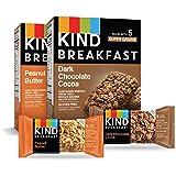 KIND Breakfast Bars Variety Pack, Dark Chocolate Protein & Peanut Butter, Gluten Free, 1.8oz, 16 Count