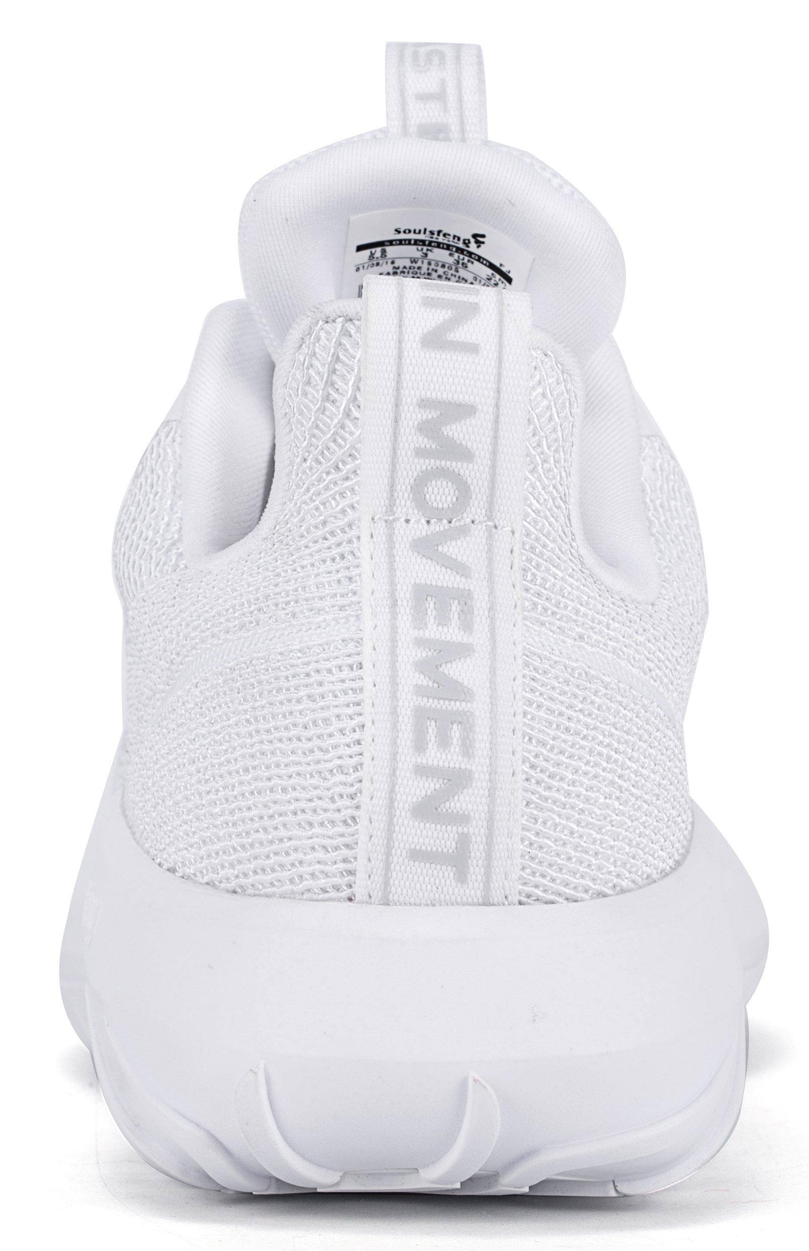 Soulsfeng Men Women Unisex Casual Fashion Sneakers Lightweight Breathable Athletic Sport Shoes (Men US8=EUR41=26CM, White)