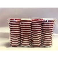 Fichas tamaño Conecta 4, 100 fichas, 50 Rojas y 50 Blancas