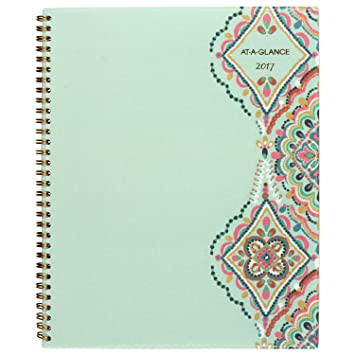 amazoncom at a glance weekly monthly planner appointment book 2018 8 12 x 11 marrakesh light green 182 905 office products