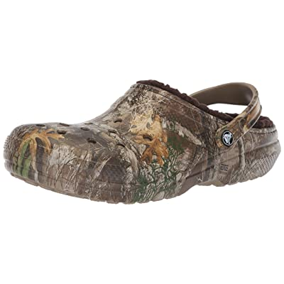 Crocs Men's and Women's Classic Fuzz Lined Realtree Edge Clog, Great Indoor or Outdoor Warm & Fuzzy Slipper Option | Mules & Clogs