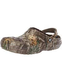 f6b6d6ad1b38c Crocs Men s and Women s Classic Fuzz Lined Realtree Edge Clog