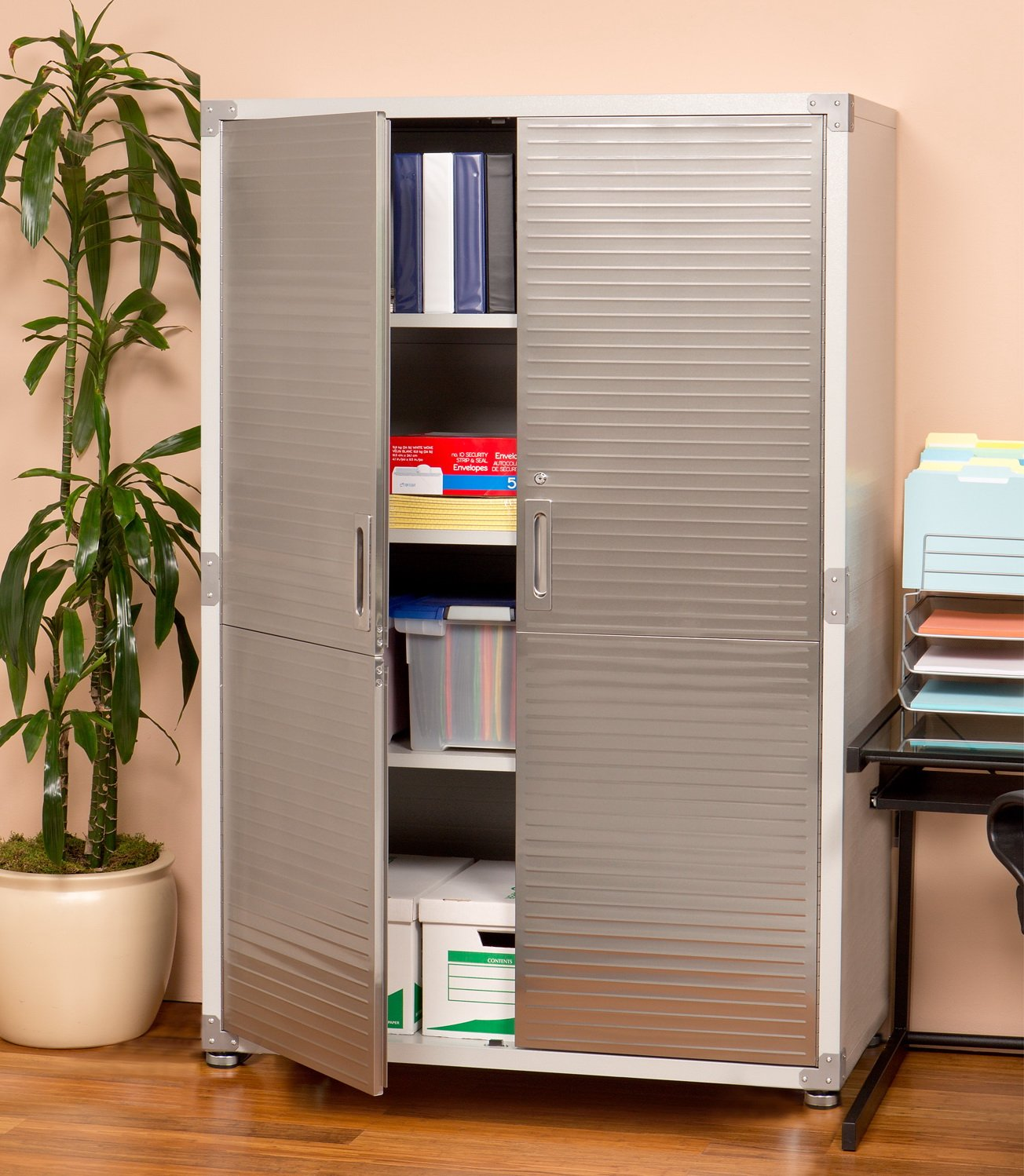 Amazon.com: Ultra HD Mega Storage Cabinet - Stainless Steel ...