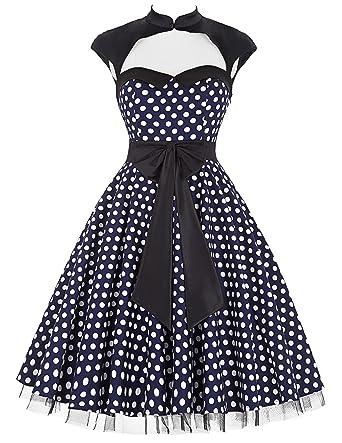 Belle Poque Reg 50er Vintage Retro Rockabilly Kleid Hepburn Stil
