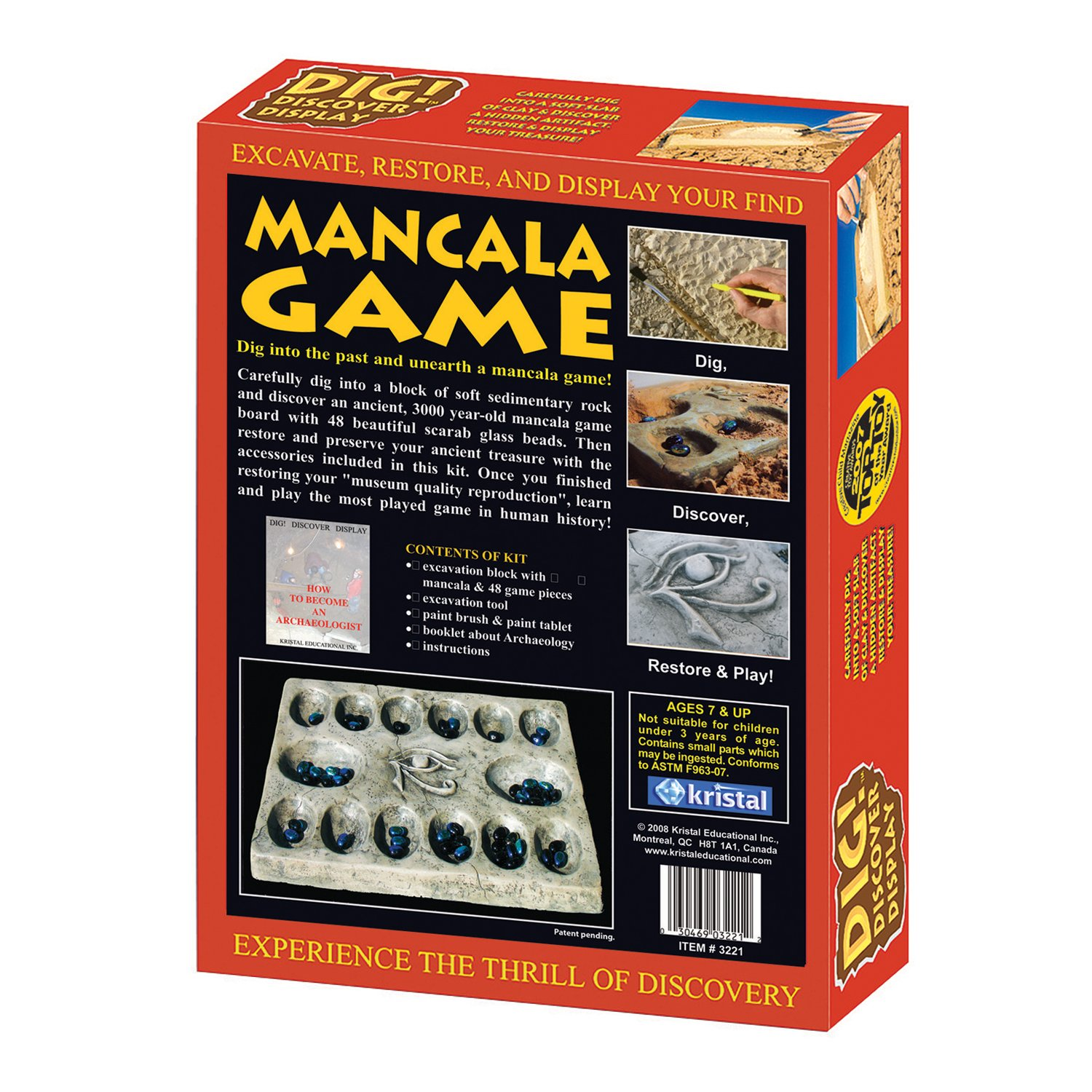 Kristal Educational Dig! Discover Mancala Game