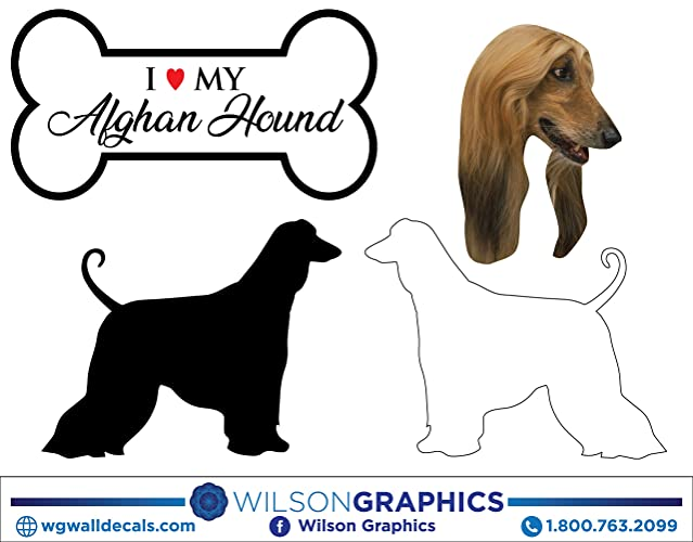 Amazon com: Afghan Hound - Dog Breed Decals (Set of 16) - Sizes in