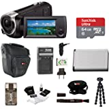 Focus Camera Sony HD Video Recording HDRCX405 HDR-CX405/B Handycam Camcorder (Black) + 64GB Premium Bundle