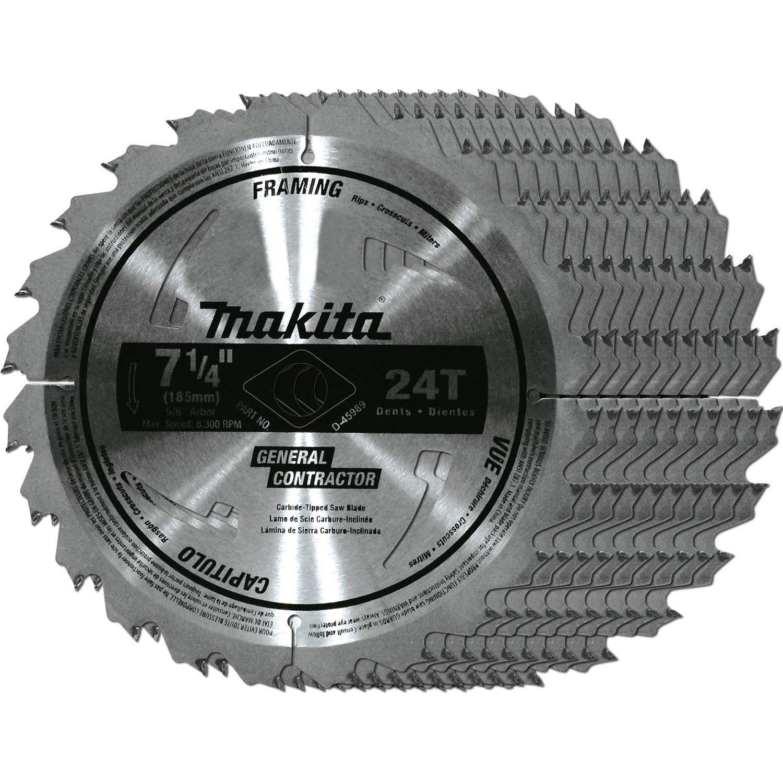 Makita D-45989-10 7-1/4-Inch Circular Saw Blade, 10-Pack