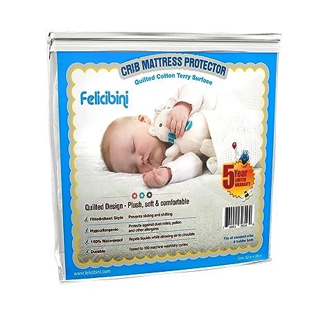 Bebé Protector De Colchón para cuna - resistente al agua suave y absorbente algodón acolchado superficie - cómodo y hipoalergénico colchón para bebé para ...