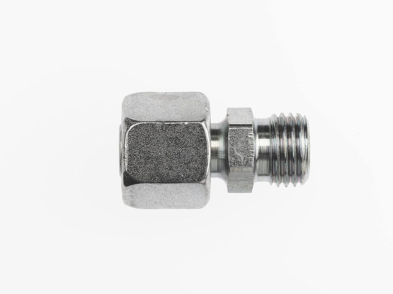 M30 x 2 NPT x M36 x 2 NPT Thread Inc. Brennan Industries D8062-S25-20 Steel Reducing Adjustable Coupling Bite Body 20 mm x 25 mm x Tube Size