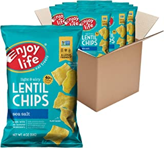 product image for Enjoy Life Sea Salt Lentil Chips, Dairy Free Chips, Soy Free, Nut Free, Non GMO, Vegan, Gluten Free, 12 - 4 oz Bags