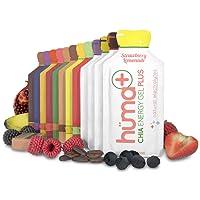 Huma PLUS - Chia Energy Gel, Variety, 4 PLUS & 8 Original Packets - Premier Sports Nutrition for Endurance Exercise
