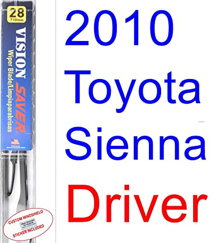 Amazon.com: 2010 Toyota Sienna Wiper Blade (Rear) (Saver Automotive Products-Vision Saver): Automotive
