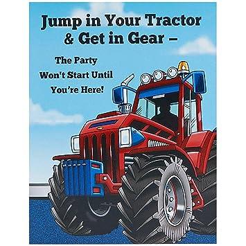 Amazoncom Farm Tractor Invitations Toys Games