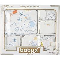 Babyx 7050E Zürafalı Erkek Hastane Çıkış Setleri, 11'li