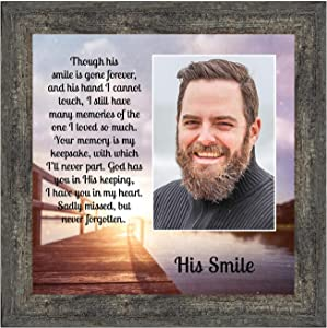 Crossroads Home Décor His Smile, in Memory of a Loved one, Loving Memory Gift, 6361BW