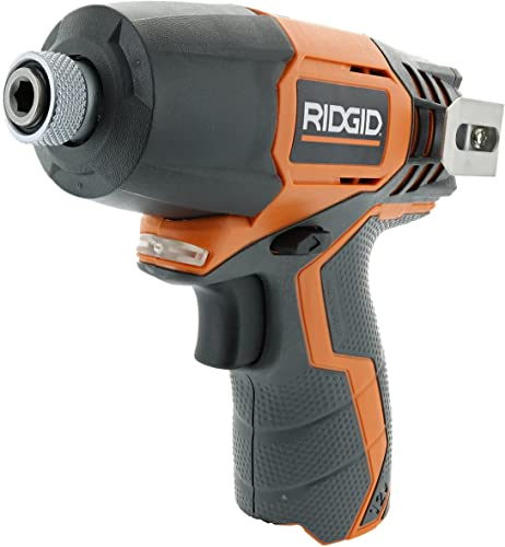 Ridgid R82230N 1 4 Inch 12 Volt Lithium Ion 1,100 In. Lbs. Impact Driver Battery Not Included, Power Tool Only