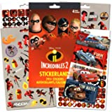 Disney The Incredibles Stickers With Specialty Cars Stickers - 295 Incredibles 2 Reward Stickers with Cars lenticular Stickers
