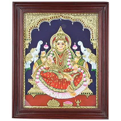 Mangala Art Lakshmi Indian Traditional Tamil Nadu Culture