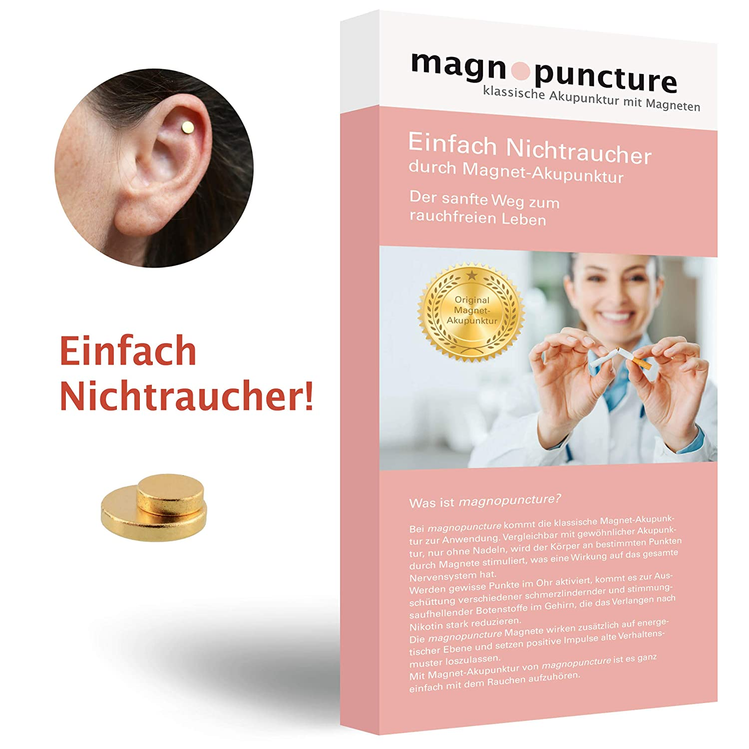 magnopuncture – Anti-Smoke Magnet, Original Magnet Acupuncture, Simply Non-Smoking Magnetic Acupuncture Stress-Free Massage Ring
