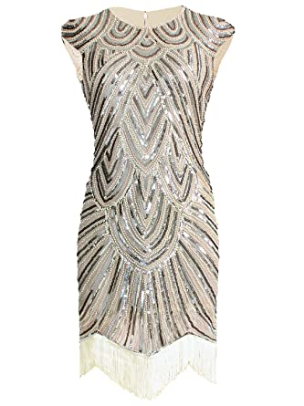 ac087445b68 Amazon.com  Vijiv Art Deco Great Gatsby Inspired Tassel Beaded 1920s ...