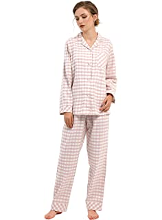 Bifast Womens Cotton Pajamas Long Woven Pj Set