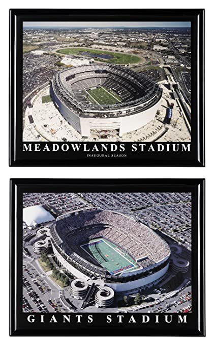 on sale 4cca5 256d3 New York Giants Football Metlife Stadium and Old Giants Stadium - Set of 2
