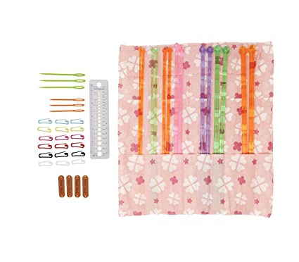 Amazon Com 14 Plastic Knitting Needles Set Of 7 Single Pointed