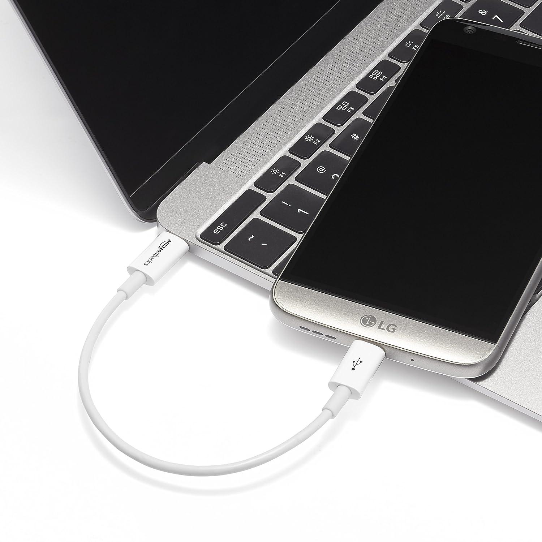 Basics Blanco Cable USB tipo C a USB tipo C 2.0-0,9 m